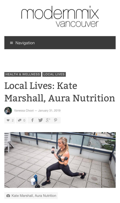 AURA News - Our founder, Kate Marshall featured on modernmixvancouver.com.
