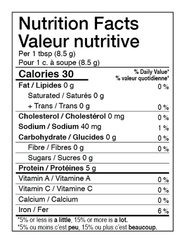 AURA™ Nutrition Collagen Generator Nutrition Facts Table