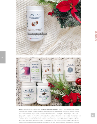 Wellness Gift Guide Blog + Novus TV Segment AURA | Natalie Langston R