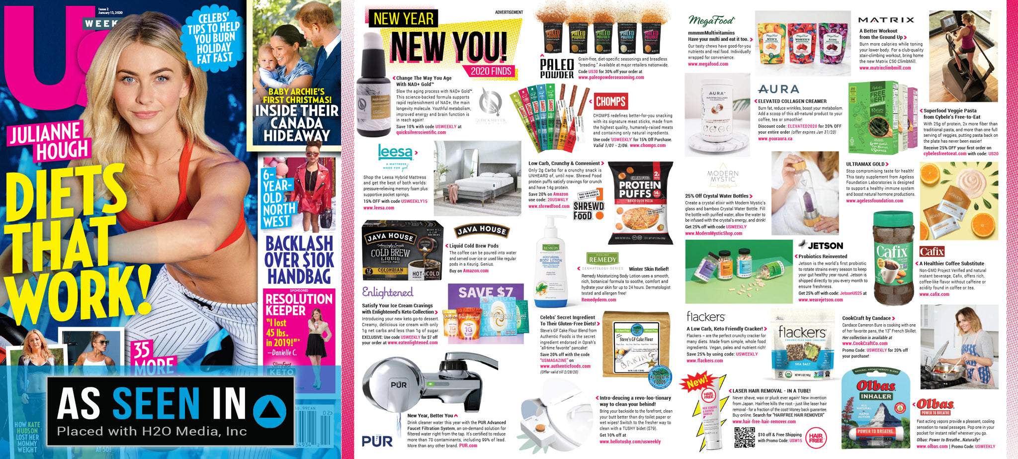 US Weekly Magazine Features AURA Nutrition Elevated Collagen Creamer