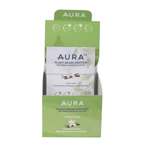 AURA™ Plant Based Protein Powder - Individual Sachets - Box of 10 x 36g