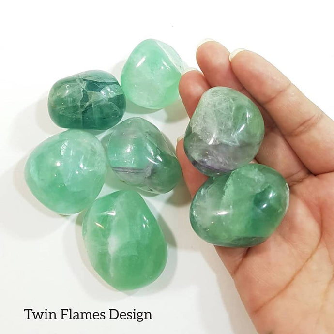 Large Green Fluorite Palm Stone