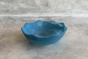 Small Flower Bowl - Blue