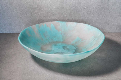 Large Salad Bowl - Aqua