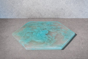Hexagon Cheese Board - Aqua
