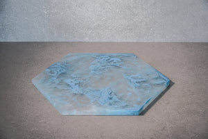 Hexagon Cheese Board - Dusty Blue