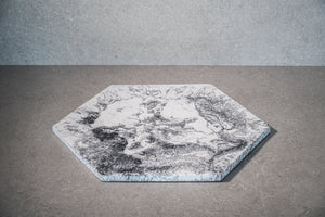 Hexagon Cheese Board - Marble
