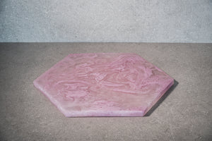 Hexagon Cheese Board - Dusty Pink