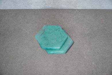 Hexagon Coaster - Aqua (Set of 4)
