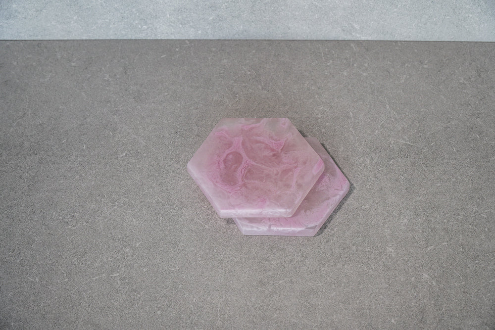 Hexagon Coaster - Dusty Pink (Set of 4)