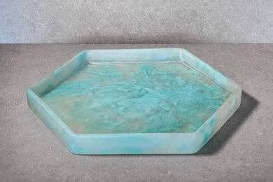 Hexagon Tray - Aqua