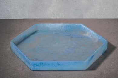 Hexagon Tray - Dusty Blue