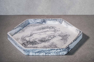 Hexagon Tray - Marble