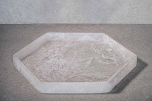 Hexagon Tray - White