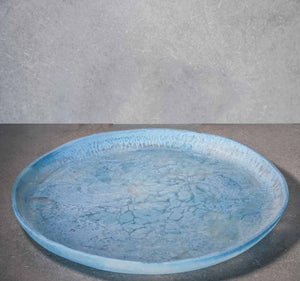 Large Circular Tray - Dusty Blue