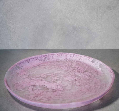Large Circular Tray - Dusty Pink