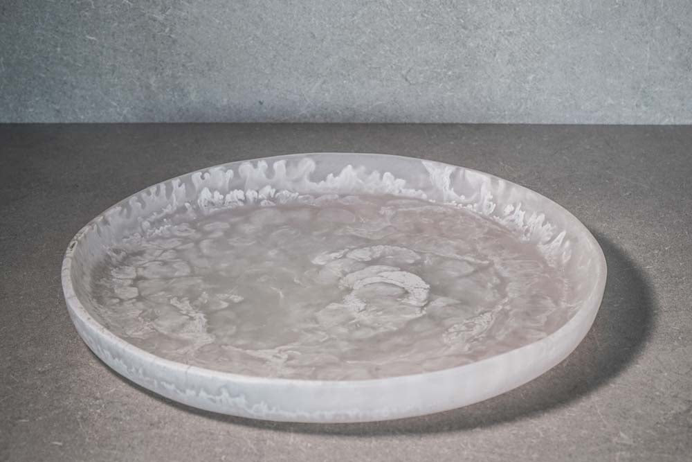Medium Circular Tray - White