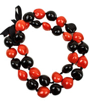 "Load image into Gallery viewer, Barbra Collection Hawaiian Leis Necklaces Made with Real Kukui Nut Adjustable 32"" Lei for Luau Party, Graduation, Wedding and Birthday Party Beads Necklace for Men and Women"
