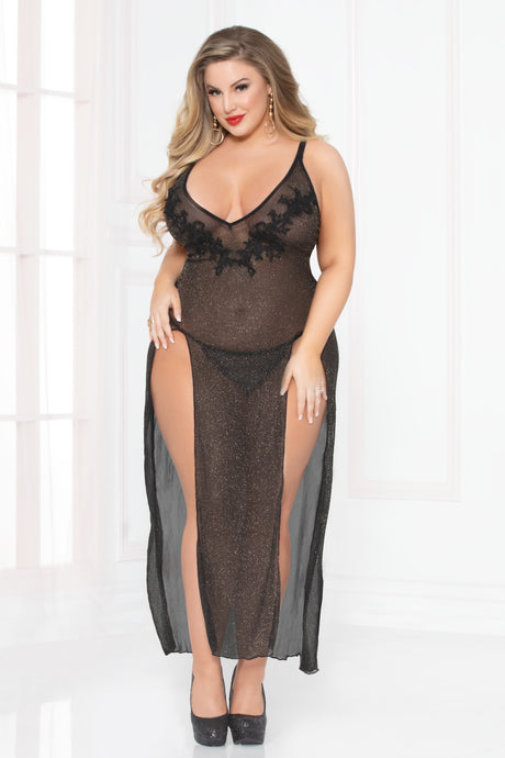 All That Glitters Gown Set -Black (Plus Size)
