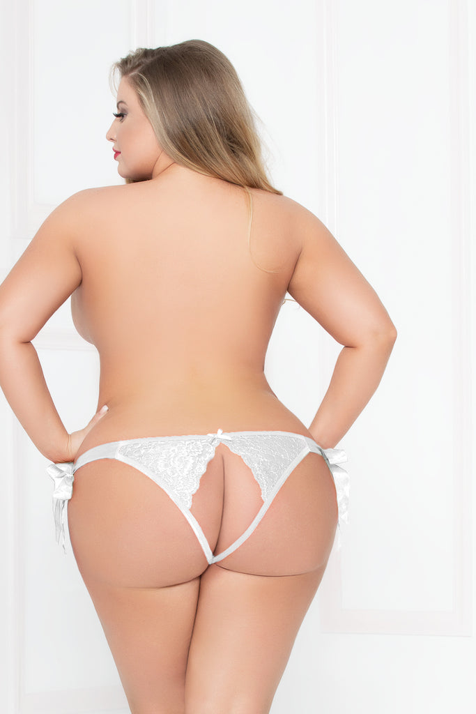 Lurex Lace Panty -White (Plus Size)
