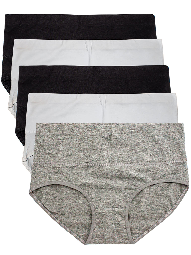 Cotton Underwear for Women Breathable, Comfortable Briefs Regular & Plus Size Multipack Panties