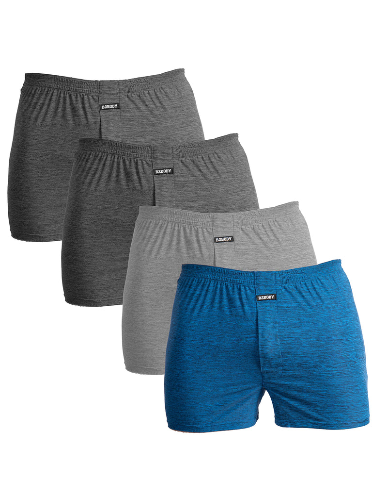 Loose Fit Boxers for Men-4 Pack S to Big and Tall Cool Touch Boxer Underwear