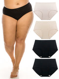 Seamless Panties for Women Super Breathable Briefs XS-3X Plus Size 4 Pack