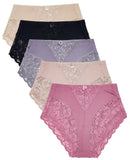 Light Control Full Coverage Briefs Panties(5 Pack)