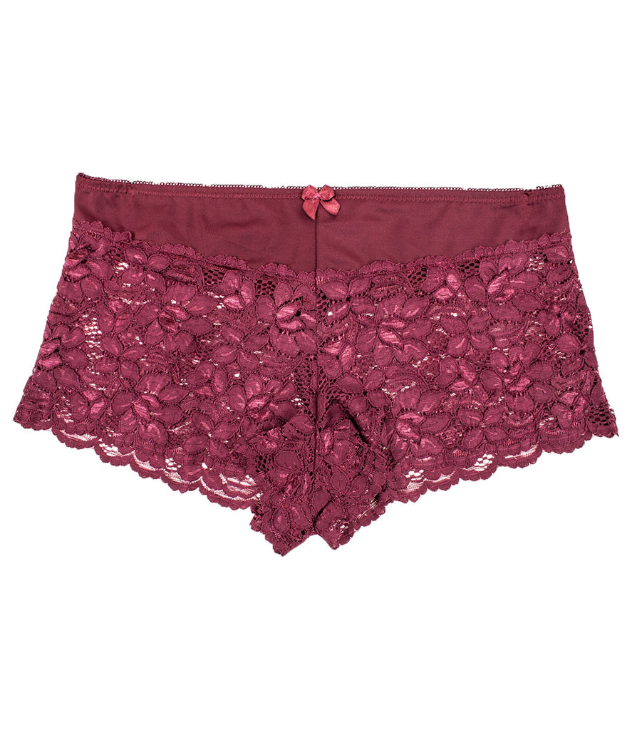 Plus Size Lace Boyshort Panties(6 Pack)