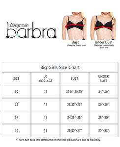 Big Girls Wireless Bras with Molded Pad (5 Pack)