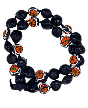 "Load image into Gallery viewer, Barbra Collection Hawaiian Kukui Nut Leis Beads Necklaces with Hand Painted Turtle Adjustable 32"" Lei for Men and Women"