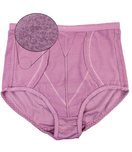 Hidden 2 Sides Pocket Fleece Lined Brief Girdle Panties (6 Pack)