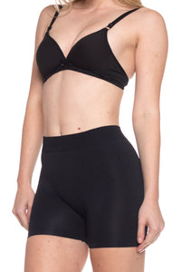 Stretchy Spandex Long Boyshort (Black)-(6 Pack)