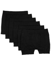 Load image into Gallery viewer, Stretchy Spandex Long Boyshort (Black)-(6 Pack)