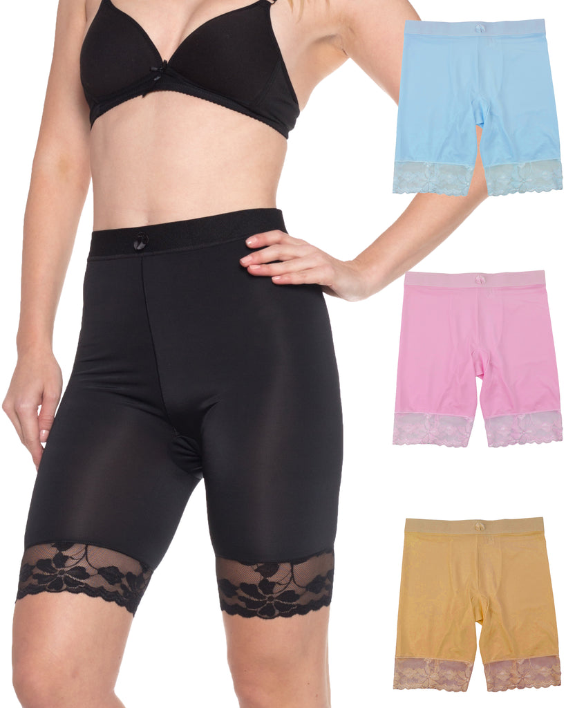 Smooth Lace Slip Shorts (3 Pack)