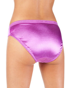 Satin Full Coverage  Bikini Panties (6 Pack)