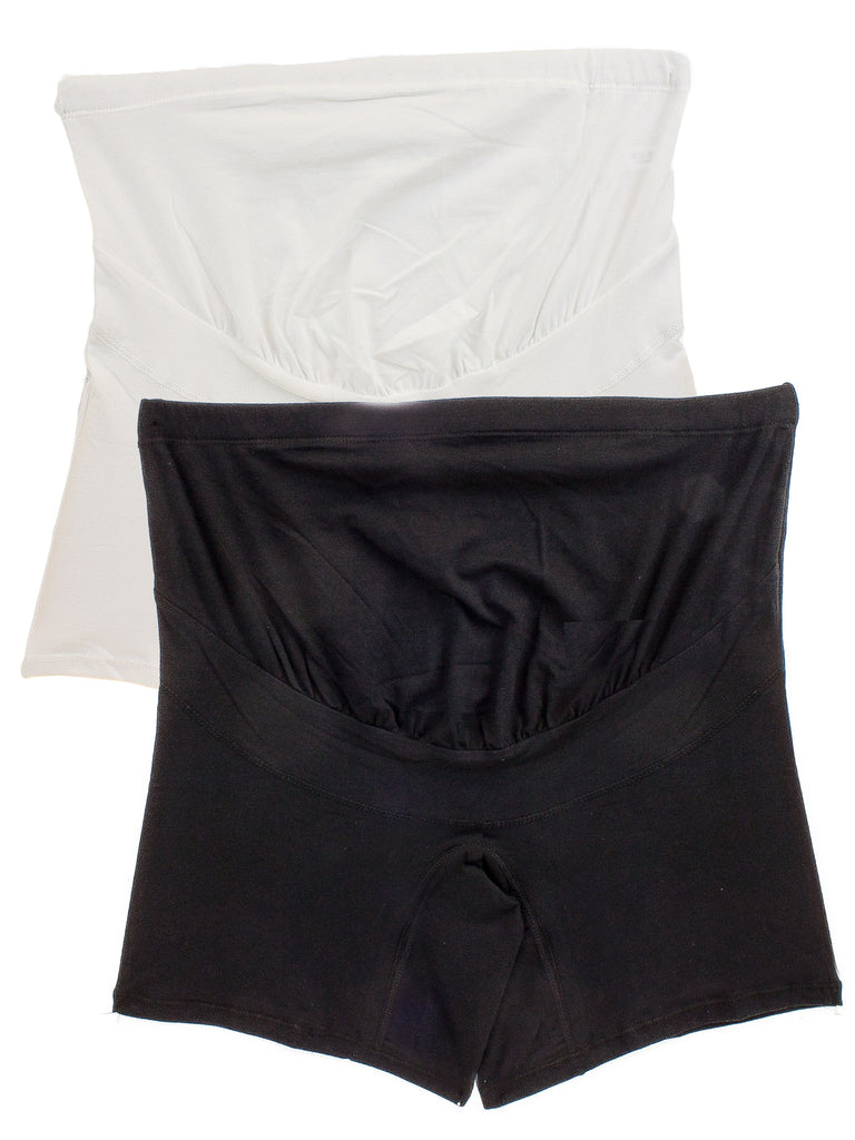 Maternity Cotton Over Bump Mid-Thigh Shorts (2 Pack)