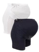 Load image into Gallery viewer, Maternity Cotton Over Bump Mid-Thigh Shorts (2 Pack)