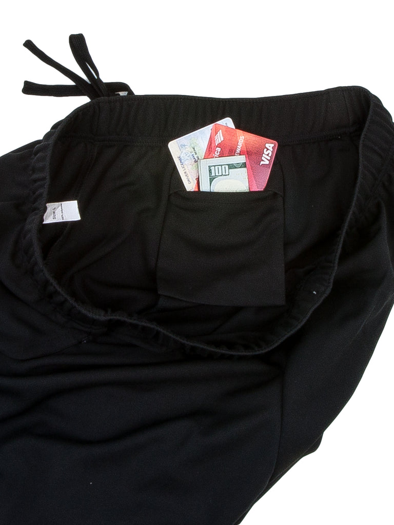 Men Shorts  Invisible Zipper Pockets  1 Pack
