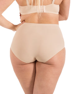 Barbra Lingerie Seamless No-Show Womens High-waist Brief Underwear Small to Plus Size 6 Panties