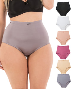 Barbra Lingerie Women's 6 Pack Solid Color Underwear