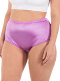 Satin Full Coverage Brief Panties (6 Pack)