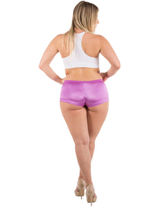 Satin Full Coverage Boyshort Panties(6 Pack)