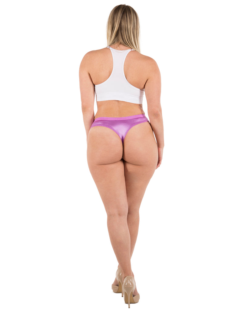 Sexy Satin Thong Panties S to Plus Size Thongs (6 Pack)