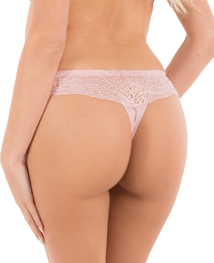Sexy Floral Lace Seamless Thong - 1pc