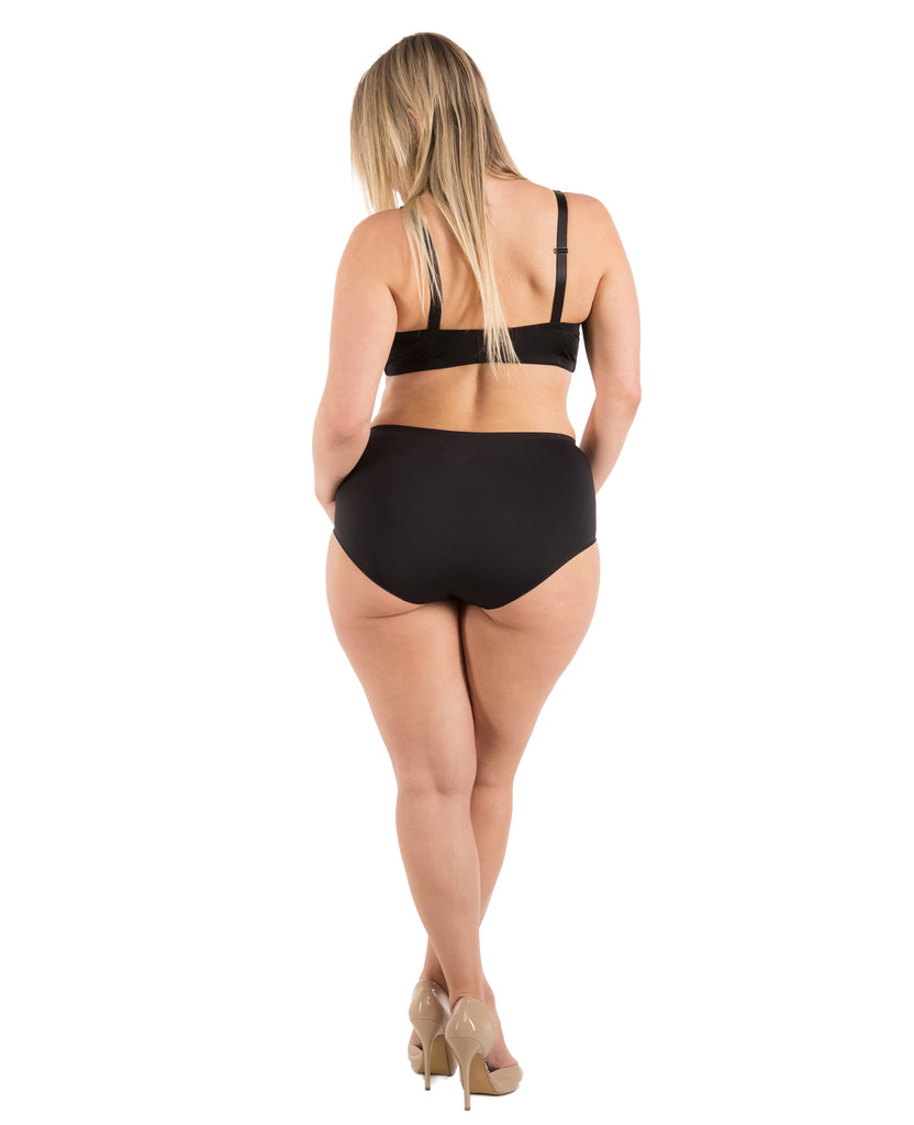Seamless High Waisted Panties Small to Plus Size (4 Pack)