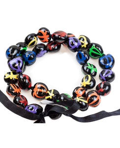 "Barbra Collection Hawaiian Kukui Nut Leis Beads Necklaces with Hand Painted Turtle Adjustable 32"" Lei for Men and Women"
