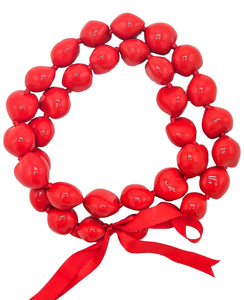 "Barbra Collection Hawaiian Leis Necklaces Made with Real Kukui Nut Adjustable 32"" Lei for Luau Party, Graduation, Wedding and Birthday Party Beads Necklace for Men and Women"