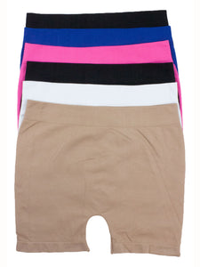 Stretchy Seamless  Boy Shorts(6 Pack)