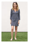 Womens Classic Tunic In Navy Dot